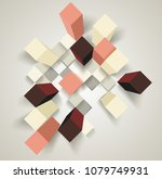 abstract background with 3d... | Shutterstock .eps vector #1079749931