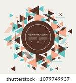 flat geometric pattern  can be... | Shutterstock .eps vector #1079749937