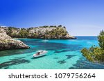 beautiful bay with sailing... | Shutterstock . vector #1079756264