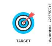 target market concept icon ... | Shutterstock .eps vector #1079757764