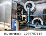 roll of galvanized steel or... | Shutterstock . vector #1079757869