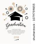 congratulations on graduation.... | Shutterstock .eps vector #1079759855