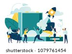 startup launch of a new... | Shutterstock .eps vector #1079761454