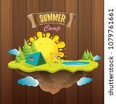 summer camp kids logo concept... | Shutterstock .eps vector #1079761661