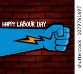 1 may   happy labour day.... | Shutterstock .eps vector #1079761697