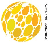 yellow spot abstract sphere... | Shutterstock . vector #1079762897