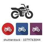 motorcycle icon in different... | Shutterstock .eps vector #1079763044