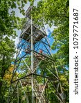 lookout tower against a... | Shutterstock . vector #1079771687