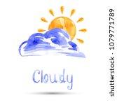 watercolor illustration of... | Shutterstock . vector #1079771789