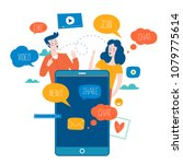 social media  networking ... | Shutterstock .eps vector #1079775614