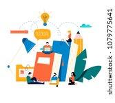 education  online training... | Shutterstock .eps vector #1079775641