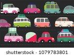 traffic jam scene   city road... | Shutterstock .eps vector #1079783801