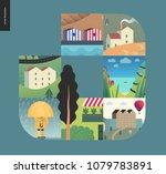 simple things   houses   flat...   Shutterstock .eps vector #1079783891