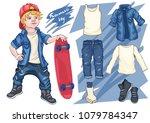 fashion vector illustration... | Shutterstock .eps vector #1079784347