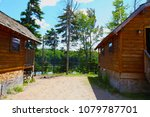 campground showing two lakeside ... | Shutterstock . vector #1079787701