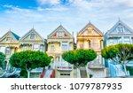 late afternoon sun light up a...   Shutterstock . vector #1079787935