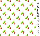 cartoon cute zucchini and... | Shutterstock .eps vector #1079793311
