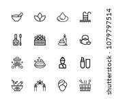 icons in thin and linear design.... | Shutterstock .eps vector #1079797514