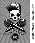 hip hop battle music poster...   Shutterstock .eps vector #1079803844