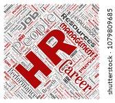 vector concept conceptual hr or ...   Shutterstock .eps vector #1079809685