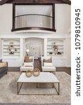 beautiful living room interior... | Shutterstock . vector #1079810945