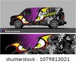 van graphic vector. abstract... | Shutterstock .eps vector #1079813021