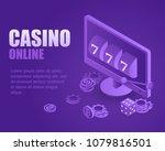 concept online casino. vector... | Shutterstock .eps vector #1079816501