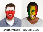 emotional soccer fans with... | Shutterstock . vector #1079817629