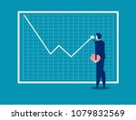 growth graph. businessman with...   Shutterstock .eps vector #1079832569