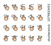 color line icon set of touch... | Shutterstock .eps vector #1079833451