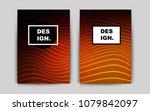 dark red vector cover for... | Shutterstock .eps vector #1079842097