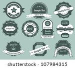 retro labels design vintage... | Shutterstock . vector #107984315