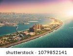 palm island in dubai  aerial... | Shutterstock . vector #1079852141