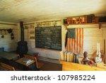Interior Of A One Room School...