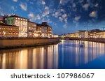 Pisa At Night In Lungarni ...
