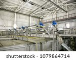 wastewater treatment plant.... | Shutterstock . vector #1079864714
