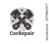 car repair  sign in vintage... | Shutterstock .eps vector #1079865377