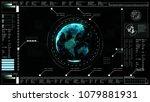 hi tech digital abstract... | Shutterstock . vector #1079881931