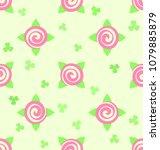 flower pattern   roses and... | Shutterstock .eps vector #1079885879