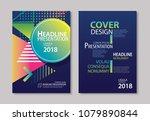 abstract gradient modern... | Shutterstock .eps vector #1079890844
