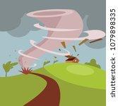 hurricane or typhoon... | Shutterstock .eps vector #1079898335