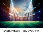 lights at night and stadium 3d... | Shutterstock . vector #1079902445