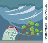 tornado and hurricane... | Shutterstock .eps vector #1079902607