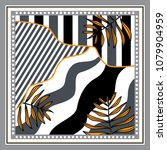 silk scarf with stripe and... | Shutterstock .eps vector #1079904959