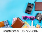 travel accessories costumes...   Shutterstock . vector #1079910107