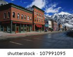 this is a western town front in ... | Shutterstock . vector #107991095