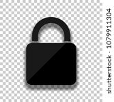 lock icon. black glass icon...