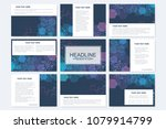 big set of vector templates for ... | Shutterstock .eps vector #1079914799