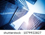 a low angle view of commercial... | Shutterstock . vector #1079922827