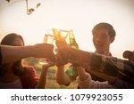 six young entrepreneur... | Shutterstock . vector #1079923055